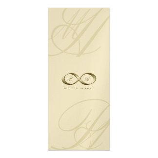 Boda del logotipo del corchete de la mano del invitación 10,1 x 23,5 cm