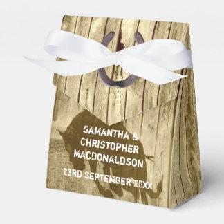 Boda del oeste salvaje rústico del país del caja para regalos de fiestas