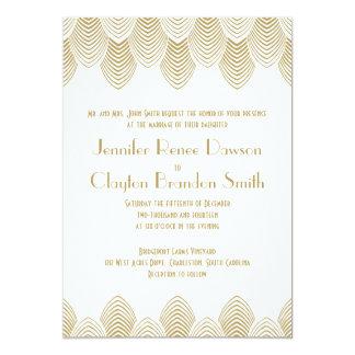 Boda del oro blanco de la concha de peregrino del invitación 12,7 x 17,8 cm