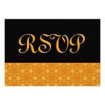 Boda del oro y del damasco de RSVP de las estrella Invitaciones Personalizada