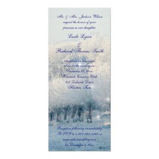"""Boda del país de las maravillas del invierno invitación 4"""" x 9.25"""""""