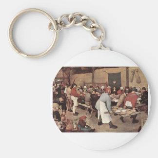 Boda del país de Pieter Bruegel Llavero Personalizado