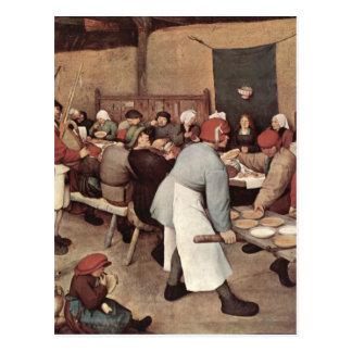 Boda del país de Pieter Bruegel Tarjetas Postales