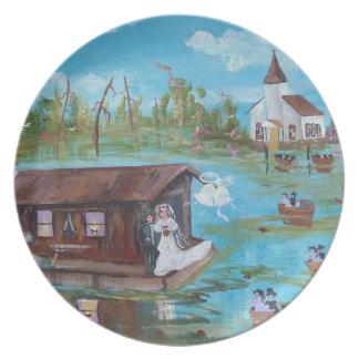 Boda del pantano plato de comida