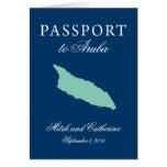 Boda del pasaporte de Aruba con el árbol de Divi Tarjeta Pequeña