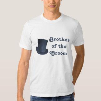 Boda del pingüino - novio - camiseta de Brother Playera
