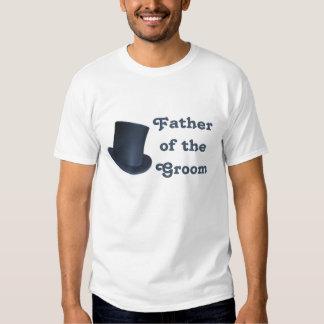 Boda del pingüino - novio - camiseta del padre poleras