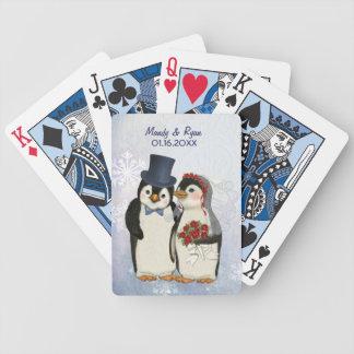 Boda del pingüino - personalizar baraja de cartas