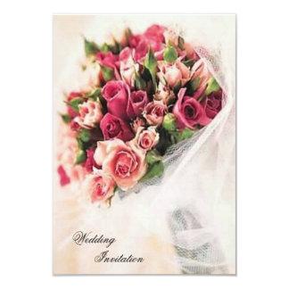 """Boda del ramo de los rosas invitación 3.5"""" x 5"""""""