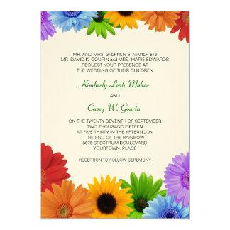 Boda del ramo del arco iris invitación personalizada