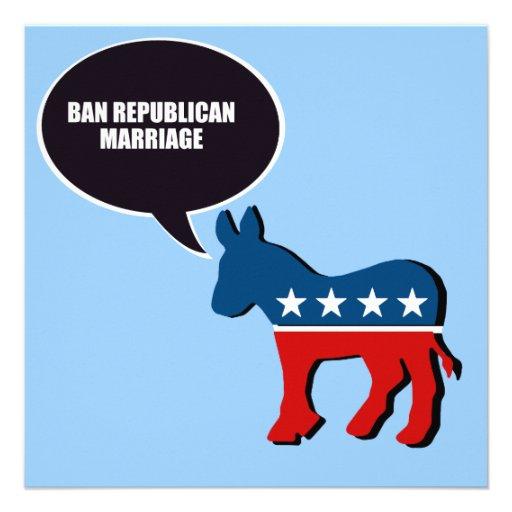 Boda del republicano de la prohibición comunicado personalizado