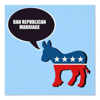 """Boda del republicano de la prohibición invitación 5.25"""" x 5.25"""""""