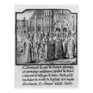 Boda del rey de Charles VI de Francia Postal