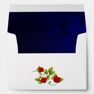 Boda del rosa azul marino y rojo sobres