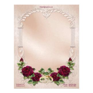 Boda del satén en el rosa - personalizar membrete a diseño