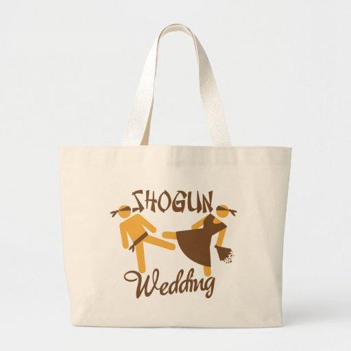 boda del shogún bolsa tela grande