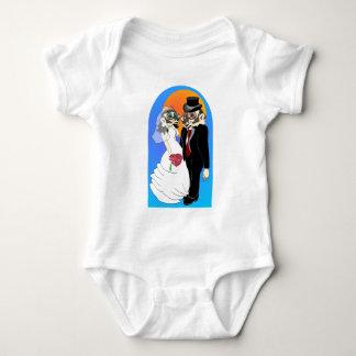 Boda del tejón mameluco de bebé