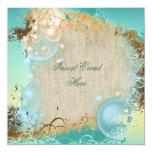 Boda del tema de la playa - fiesta elegante invitación 13,3 cm x 13,3cm