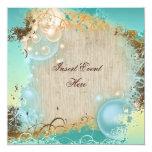 Boda del tema de la playa - fiesta elegante invitación personalizada