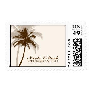 Boda del verano de las palmeras timbre postal