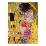 Boda del Victorian del vintage, el beso por Klimt Invitación Personalizada