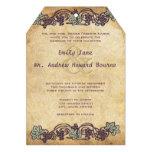 Boda del viñedo del vintage de Nouveau del arte Invitacion Personalizada