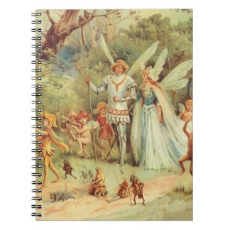 Boda del vintage de Thumbelina y del príncipe Cuadernos