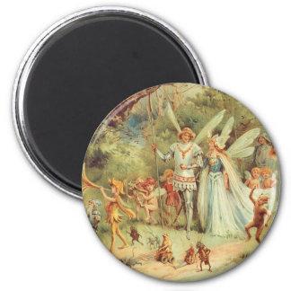 Boda del vintage de Thumbelina y del príncipe Imán Redondo 5 Cm