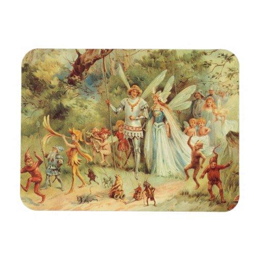 Boda del vintage de Thumbelina y del príncipe Imanes