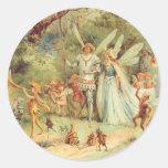 Boda del vintage de Thumbelina y del príncipe Etiqueta Redonda