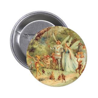 Boda del vintage de Thumbelina y del príncipe Pin Redondo 5 Cm