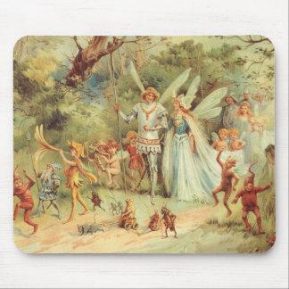 Boda del vintage de Thumbelina y del príncipe Alfombrilla De Ratón