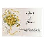 Boda del vintage, flores amarillas y abejas en pra tarjetas de visita