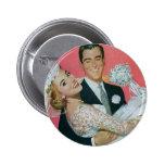 Boda del vintage, novia que lleva del novio, pin