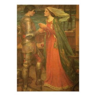 Boda del vintage Tristan e Isolda Waterhouse