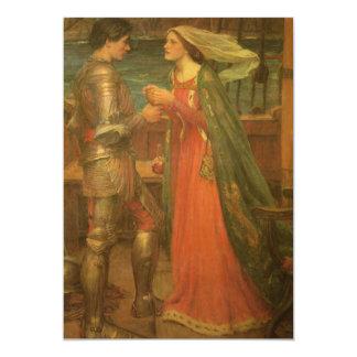 Boda del vintage, Tristan e Isolda, Waterhouse Invitación 12,7 X 17,8 Cm