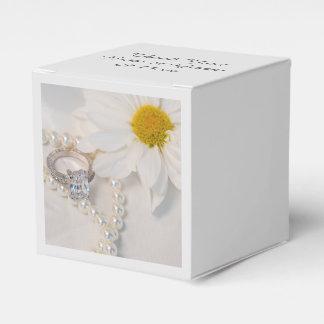 Boda elegante de la margarita blanca cajas para regalos de fiestas