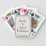 Boda elegante del oro del art déco barajas de cartas