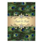 boda elegante del pavo real del verde esmeralda anuncio personalizado