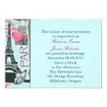 boda elegante del vintage de la torre Eiffel de Comunicado
