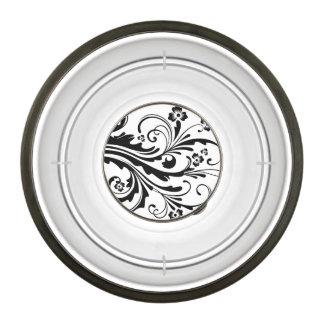 Boda elegante floral blanco y negro