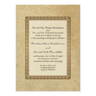 """Boda elegante formal floral del damasco del invitación 6.5"""" x 8.75"""""""