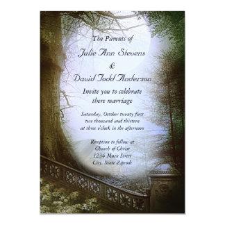 Boda encantado de la escena del bosque invitacion personal