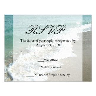 Boda escénico del destino de la playa invitacion personal