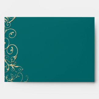 Boda esmeralda del remolino del oro del árbol de sobre