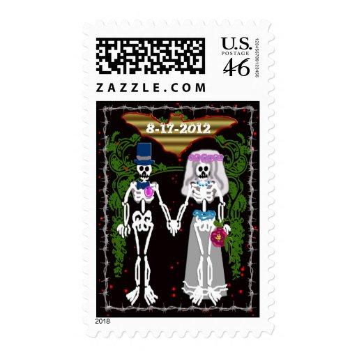 boda esquelético 1 sello