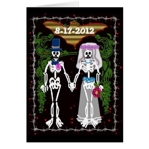 boda esquelético 1 tarjeta