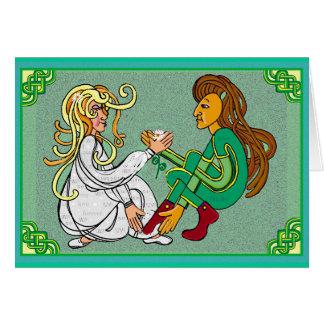 Boda eterna del handfast del amor tarjeta de felicitación
