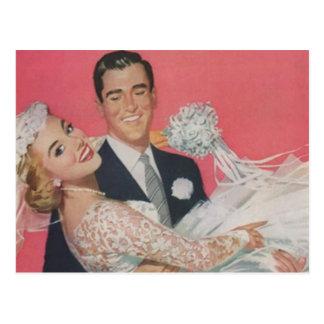Boda feliz de los pares del novio de la novia del  postales