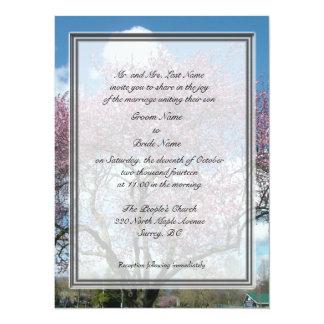 boda, flor de cerezo de la invitación de los
